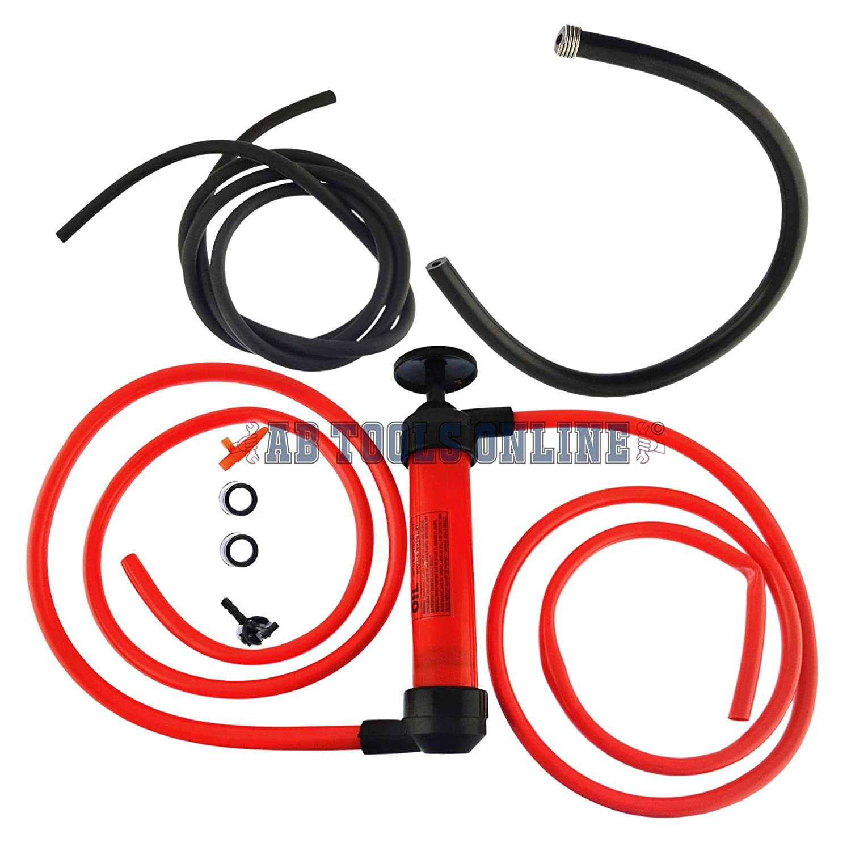 Syphon Pump T Handle Transfer Pump Fluid Extractor Fuel Oil Water Liquid TE897 AB Tools
