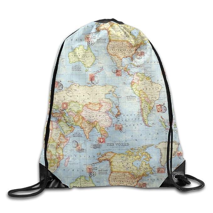 Amazon zqweoo atlas world map blue travel upholstery weight zqweoo atlas world map blue travel upholstery weight cotton a travel bag design lovely nice for gumiabroncs Choice Image