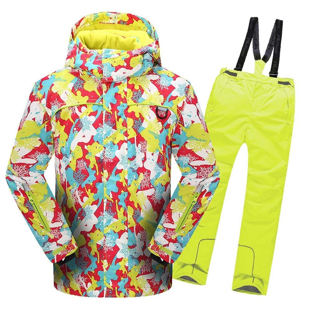 Yhjklm Snowsuit per Bambini Giacca da Sci con Cappuccio Cappuccio Cappuccio da Sci con Tuta da Snowsuit, Impermeabile e Impermeabile, con 2 Pantaloni Vento (Coloreee   Giallo, Dimensione   146 152)B07L4B7YHZ134 140 Giallo | Consegna Immediata  | Prodotti di alta qualità  | a6a6ec
