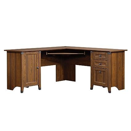 Amazon Com Sauder 416969 Carson Forge Corner Computer Desk L