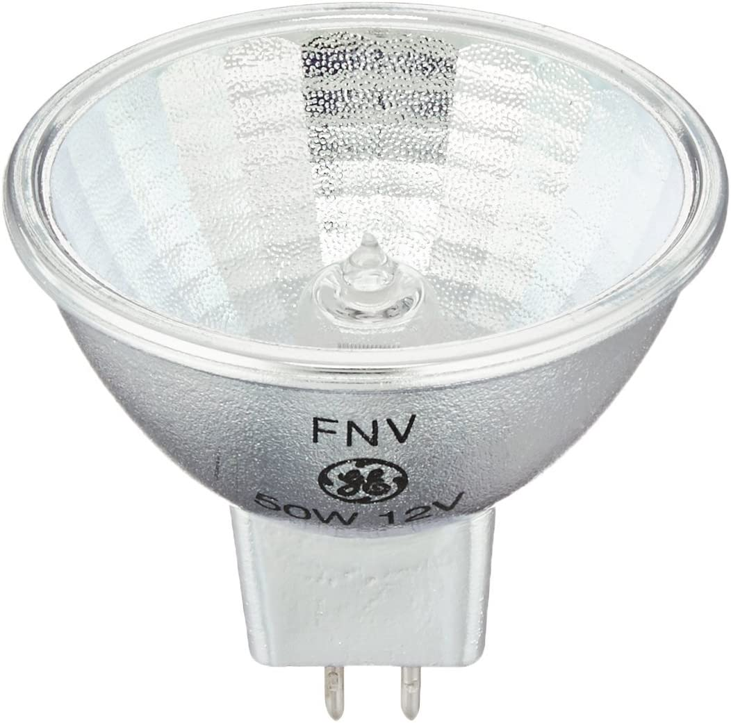 GE 20832 Q50MR16/C/WFL55 FNV 50 Watt Halogen Light Bulb - MR16 - ConstantColor Precise - Wide Flood - Open Face - 6,000 Life Hours - 12 Volt