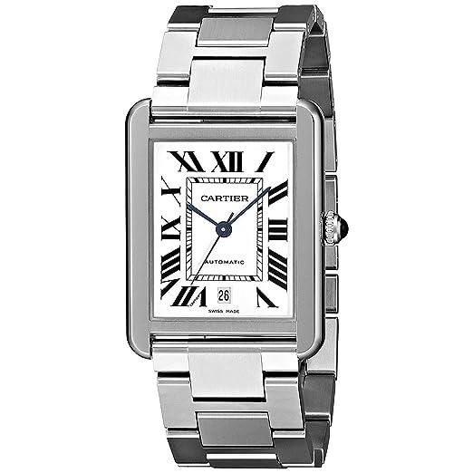CARTIER TANK SOLO RELOJ DE HOMBRE AUTOMÁTICO CORREA DE ACERO W5200028: Cartier: Amazon.es: Relojes