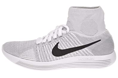 the latest a8fae df18c Nike Lunarepic Flyknit, Chaussures de Running Homme, Blanc Cassé-Blanco  (White/
