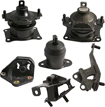 6pc Motor Mounts Set Kit Compatible with 03-07 Honda Accord 3.0L V6 Automatic Auto Transmission 2003 2004 2005 2006 2007 Engine Mounts