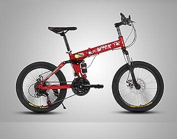 Bicicleta De Montaña Bicicleta Plegable Ciclismo 21 Velocidad 20Inch / Frenos De Disco Delanteros Y Traseros