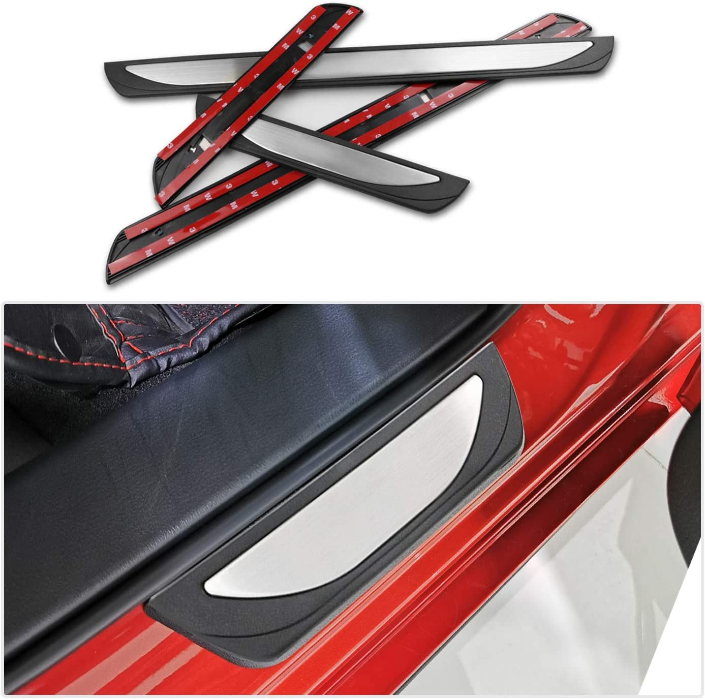 interior bumper protection 4 pieces stainless steel car accessories CDEFG for Qashqai J11 SUV 2014-2019 door sill cover