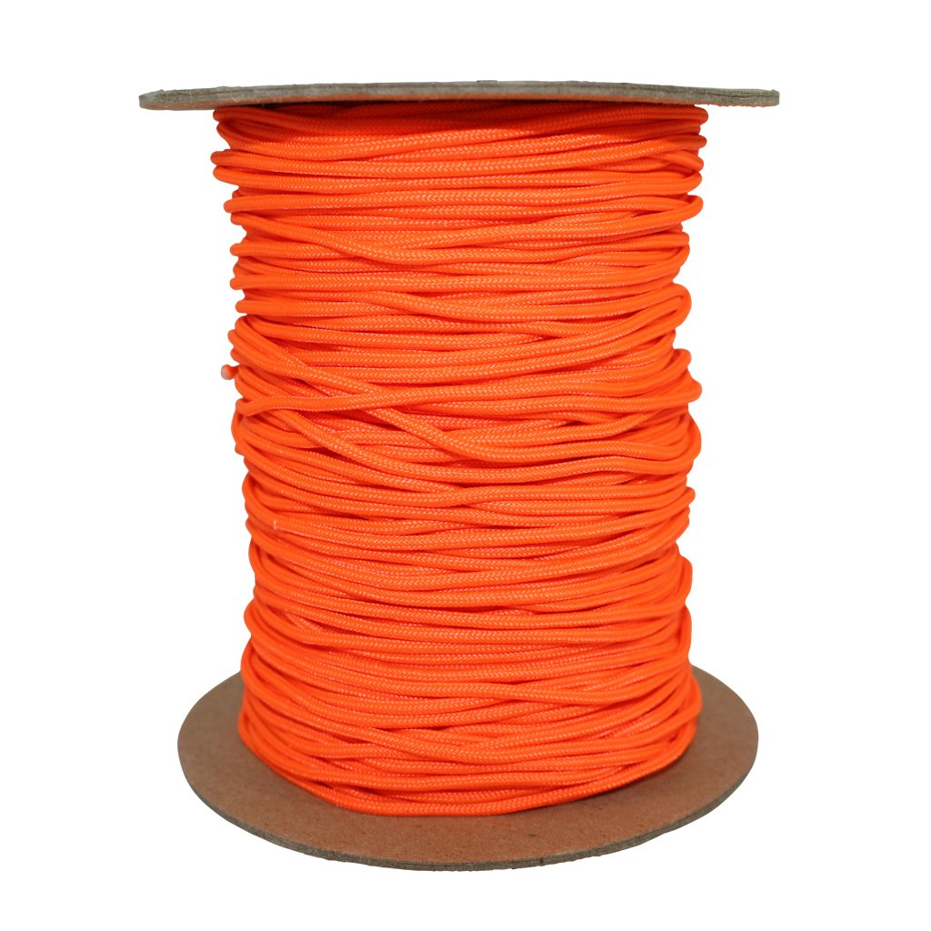 SGT KNOTS Spectra Cord (2.2mm) Speargun Line - Fishing Line - All-Purpose Utility Cord - for Tie-Downs, Gear Bundles, Boot Laces, Camping, Survival, Marine, More (300 Feet Spool - Neon Orange) by SGT KNOTS (Image #2)