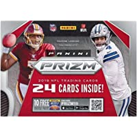2019 Panini Prizm NFL Football EXCLUSIVE Factory Sealed Retail Box with MEMORABILIA Card! Look for Rookie & Autos of Kyler Murray, Daniel Jones, Josh Jacobs, Nick Bosa, Gardner Minshew & More! WOWZZER