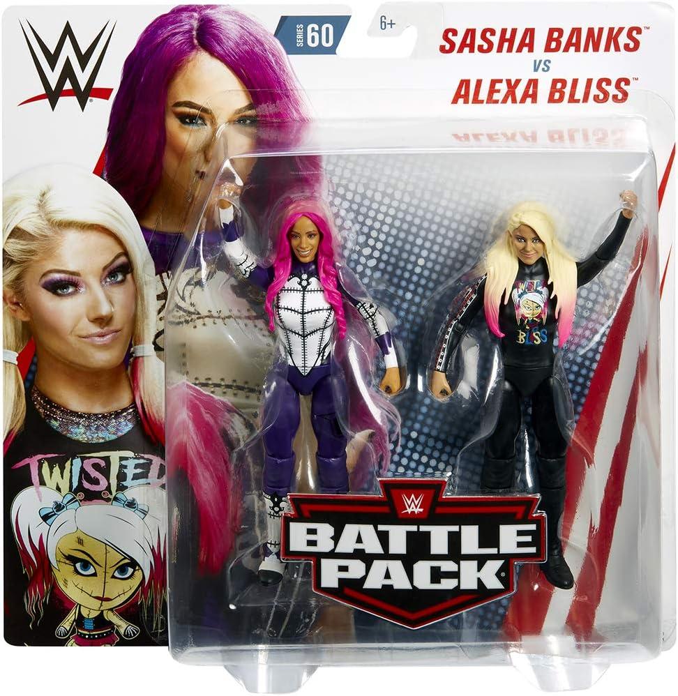 Ringside Alexa Bliss & Sasha Banks - WWE Battle Packs 60 Mattel Toy Wrestling Figura de acción 2 Unidades: Amazon.es: Juguetes y juegos