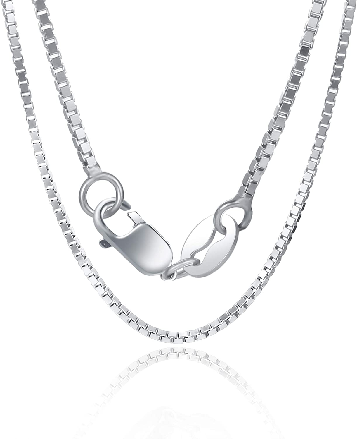 """Womens Italian 925 Sterling Silver Link Chain Necklace 20/"""" Lobster Clasp Mens"""