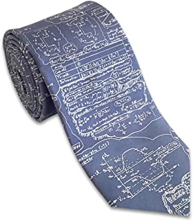 product image for Josh Bach Men's Physics, Engineering, Math Formula Silk Necktie Blue, Made in USA