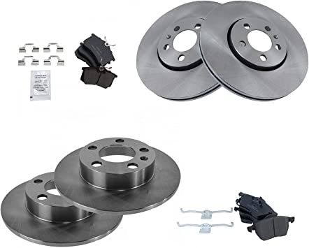 Rotors Ceramic Pads F+R See Desc. OE Replacement 2014 2015 VW Beetle