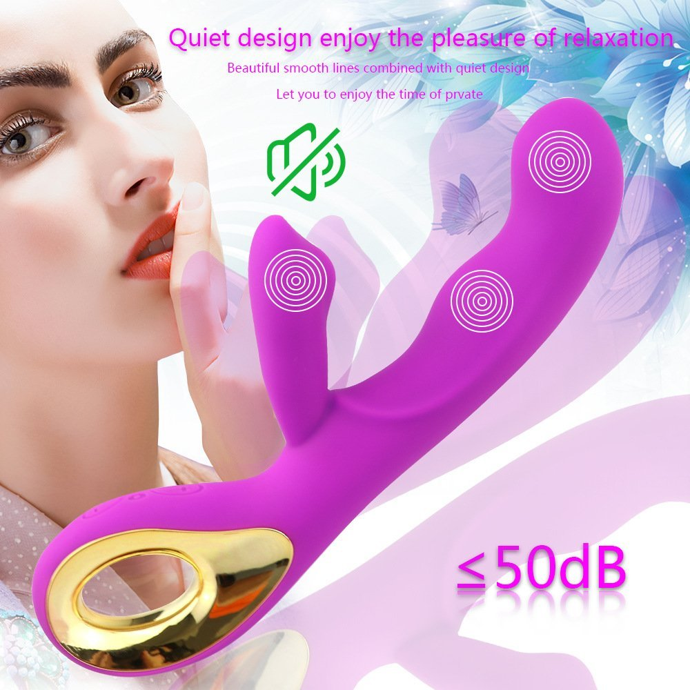 Palillo De Masaje Orgasmo Eléctrico Vibrador De Carga del Orgasmo Masaje G Punto Femenino Muy Impermeable Y Silencioso Dispositivo De Masturbación Femenina Productos para Adultos,Purple 17b4d8