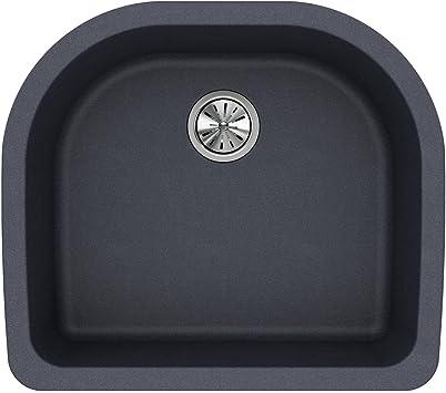 Elkay Quartz Classic ELGSU2522GY0 Dusk Gray Single Bowl Undermount Sink