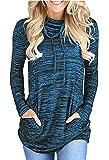 Sweat Femme à Manches Longues en Col Bénitier Cordon de Serrage en Sweat-Shirt Pullover Top