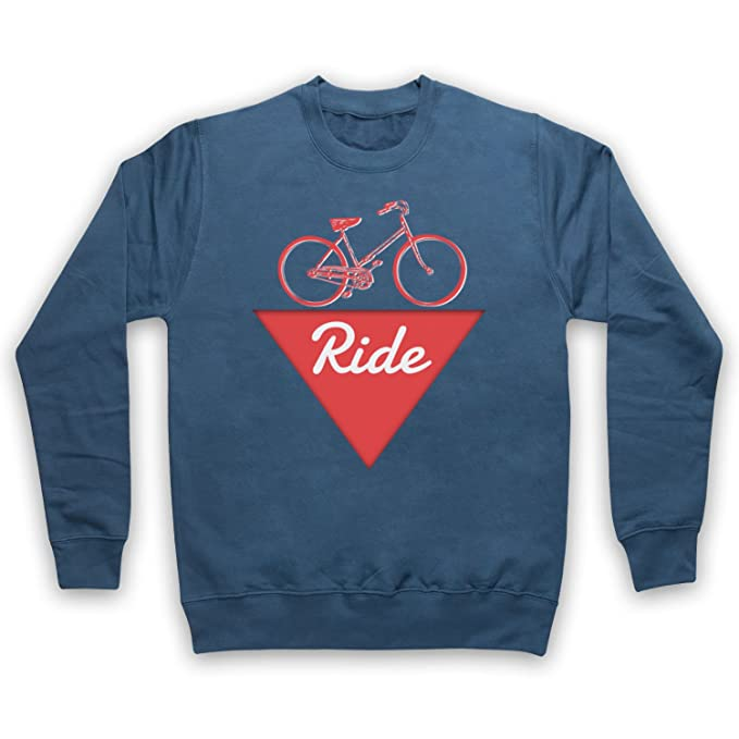My Icon Art & Clothing Ride Bike Fanatic Adultos Sudadera, Azul Fuerza Aérea, Small