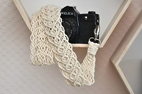 Macrame camera strap for women Beige camera strap braided Gift for photographer