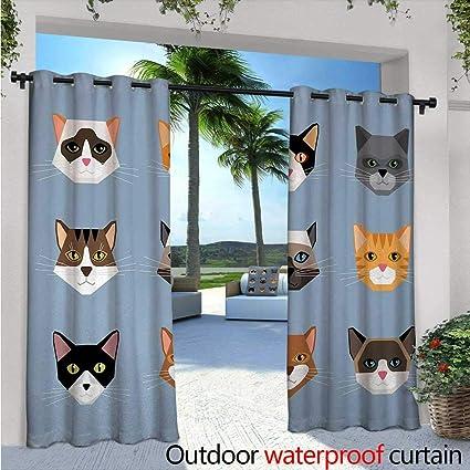 Amazon.com: Cortinas para el exterior y exterior con diseño ...