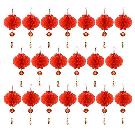 Amazon.com: Coopay - Lote de 20 lámparas rojas chinas para ...