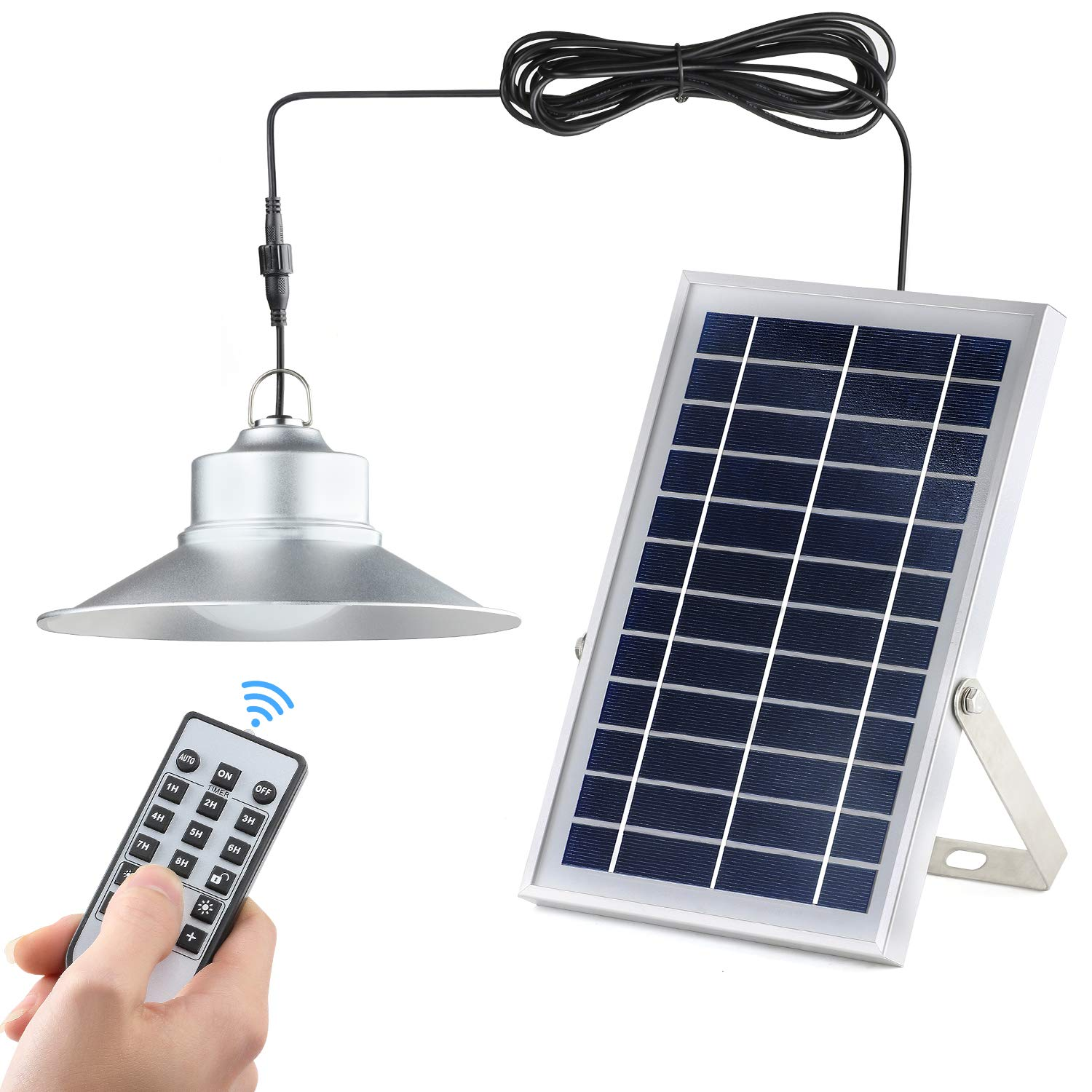 Solar Lights,Kyson Indoor Vintage Solar Shed Light 5200aMH Aluminum Alloy Hanging Barn Light with Remote Control Also for Outdoor Use IP65 by Kyson