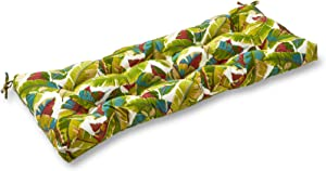Greendale Home Fashions AZ4805-PALM-MULTI Tropical Multi 44-inch Outdoor Swing/Bench Cushion