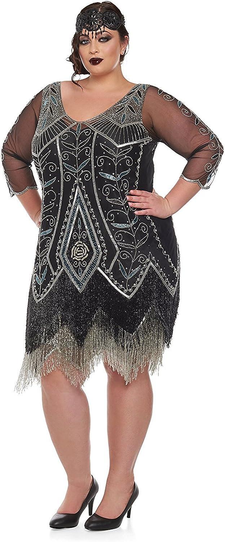 Find Downton Abbey Style Dresses in the UK gatsbylady london Scarlet Vintage Inspired Fringe Flapper Dress in Black Silver £165.00 AT vintagedancer.com