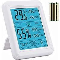 Neoteck Termómetro higrómetro Digital Pantalla táctil Medidor de Temperatura y Humedad Valor Mínimo/Máximo…