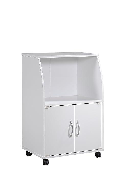 Amazon.com: Hodedah - Carrito para microondas (2 puertas ...