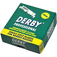 "1000 ""Derby Professional"" Single Edge Razor Blades for straight razor"