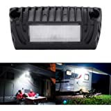 SUPAREE LED RV Exterior Porch Utility Light - Black 12V 750 Lumen Lighting Fixture Kit Replacement for RVs Trailers…