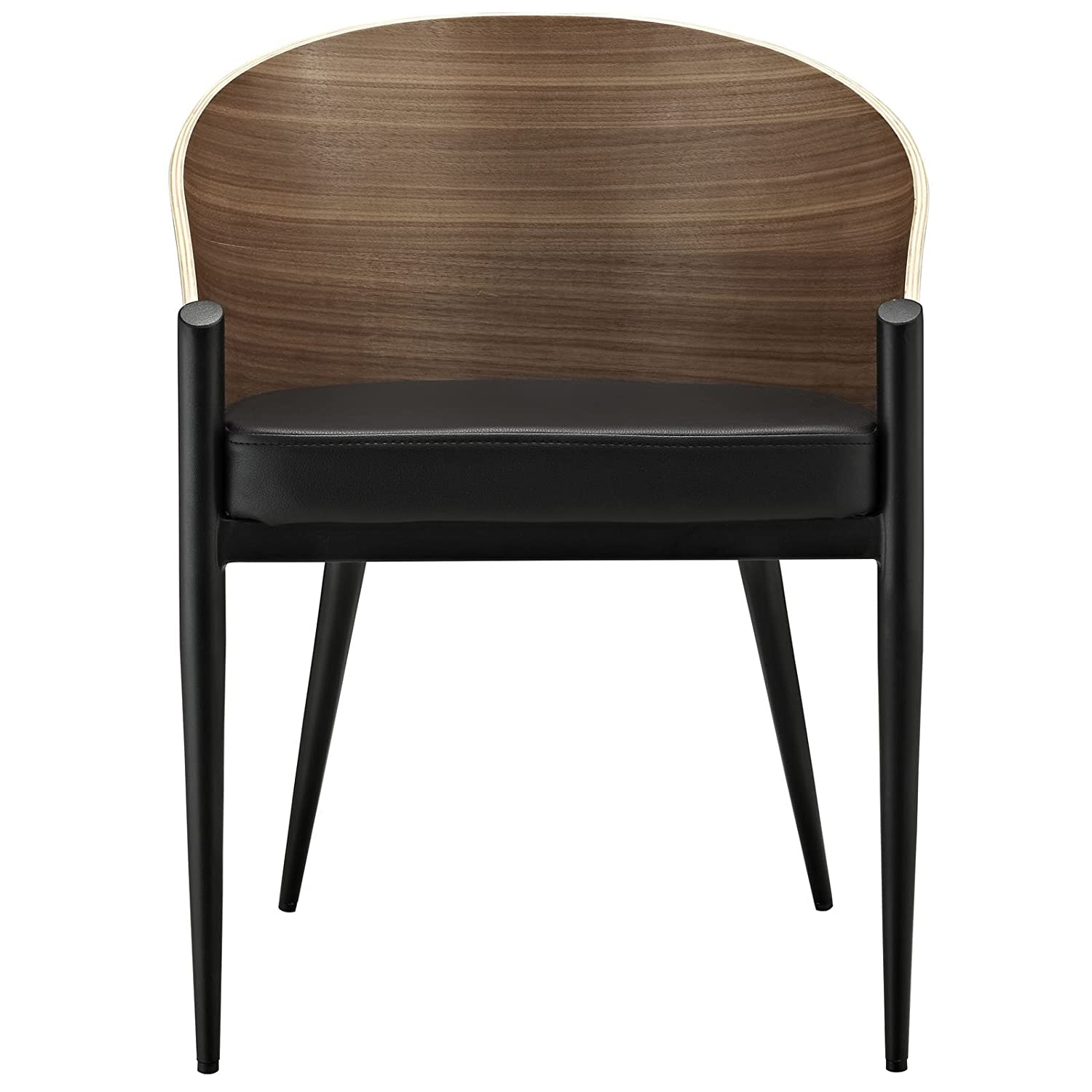 Amazon.com - Modway Cooper Dining Wood Armchair in Walnut - Chairs
