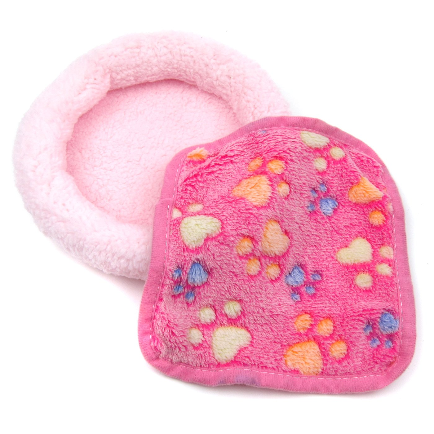 Alfie Pet by Petoga Couture - Fallon Sleeping Mat and Blacket Set for Small Animals like Dwarf Hamster and Mouse - Color: Pink