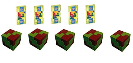 Virgo Toys Matchup & I Qube Puzzle (Combo) - Pack of 5