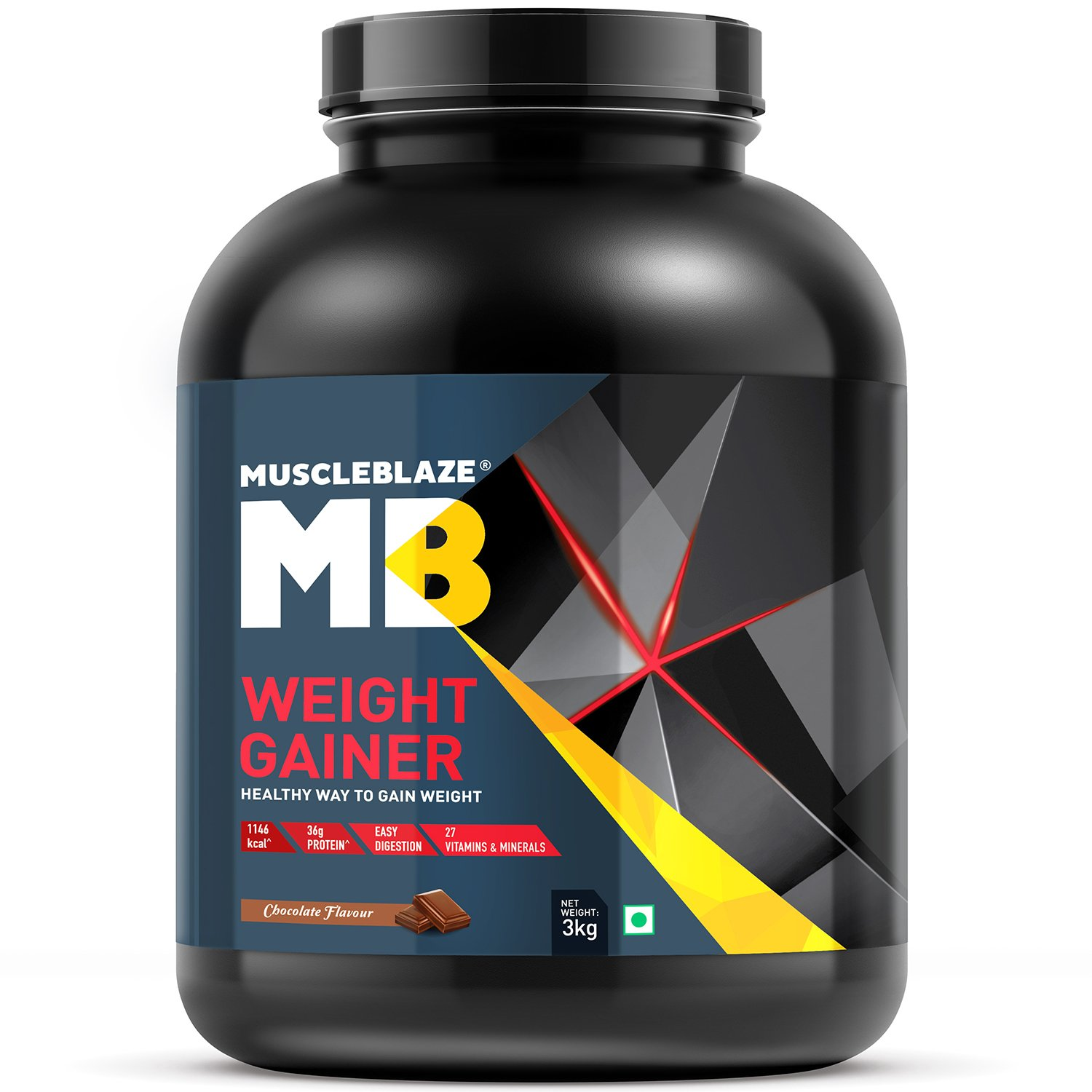 Muscleblaze Weight Gainer 3 Kg Chocolate Health Paket Hn Full Body Personal Care