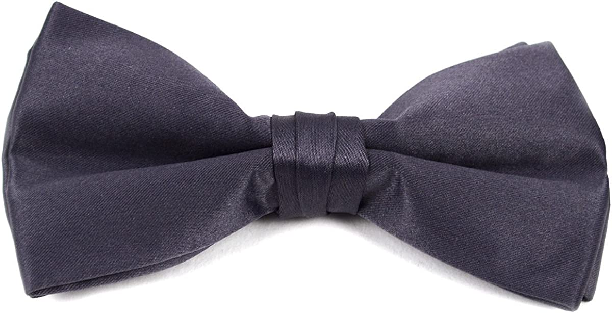 Clip On Boys Bow Tie Bow Ties for Kids Charcoal Boys Pre Tied Bow Tie
