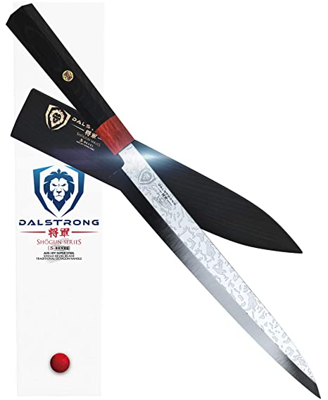 DALSTRONG - Yanagiba Sushi Knife - Shogun Series S - Single Bevel Knives - 10.5