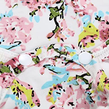 2 PC 24M, Rosado Covermason Beb/é Ni/ñas Floral Impresi/ón Mono Bodies y Headwear