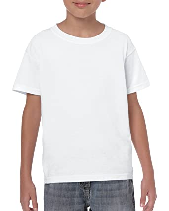14f7cd3c39f Amazon.com  Gildan Kids  Heavy Cotton Youth T-Shirt  Clothing
