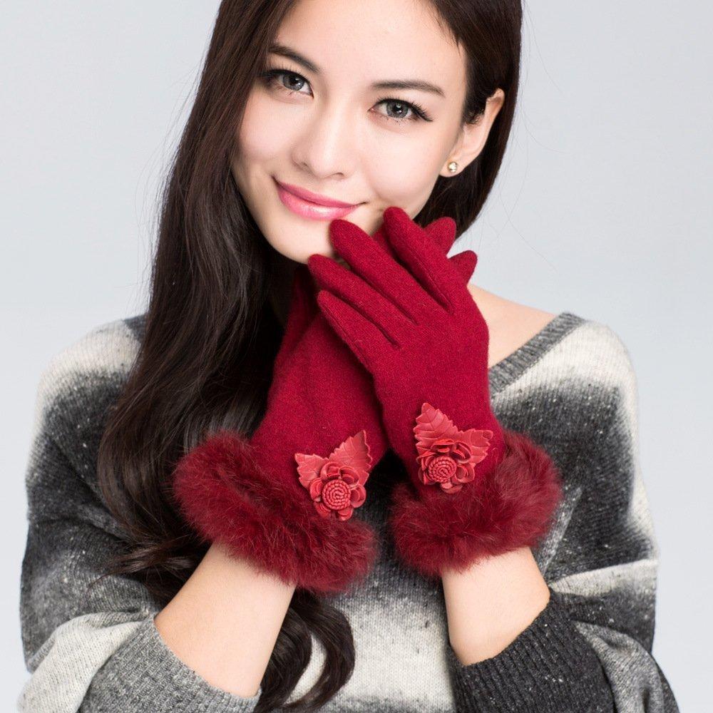 DIDIDD Signora guanti addensare inverno autunno caldo