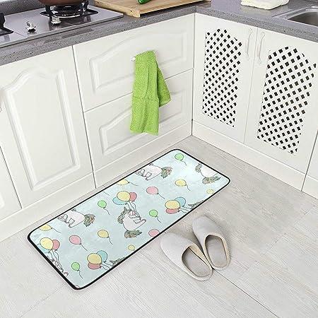 Doormats Imprimé Plancher Tapis salle de bain Cuisine Entrée Antidérapant Tapis Décoration