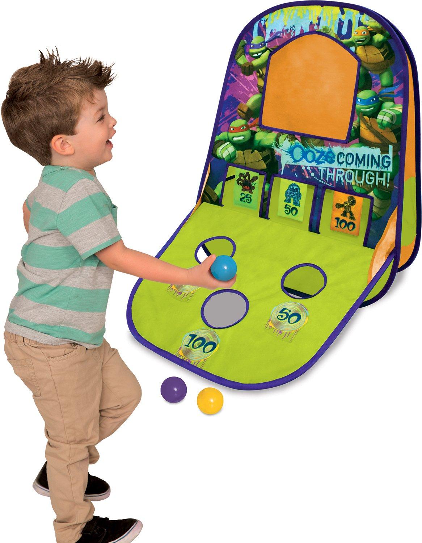 Green Playhut Teenage Mutant Ninja Turtles Triple Shot Game Center