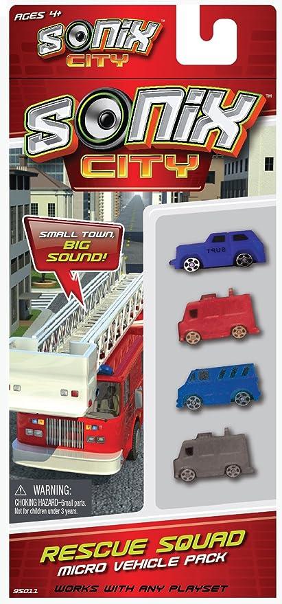 Sonix City Rescue Squad Vehicle Pack