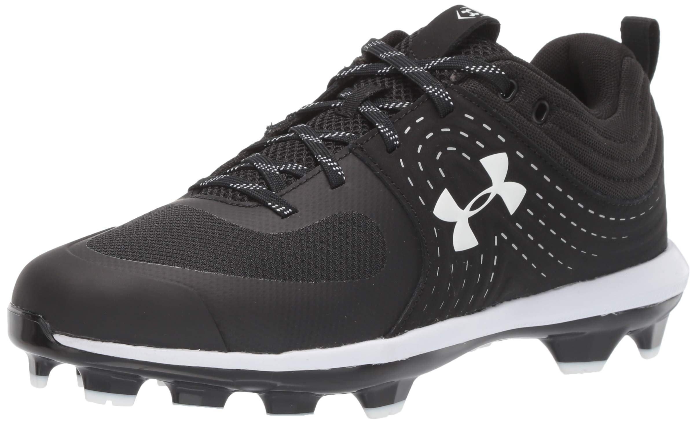 Under Armour Women's Glyde TPU Softball Shoe, Black (001)/White, 7 by Under Armour