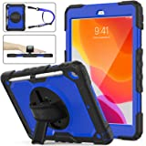 SEYMAC Stock iPad 8th/7th Generation 10.2 Case, Shockproof [Full-Body] Drop Armor Case with 360 Rotating Stand [Pencil Holder