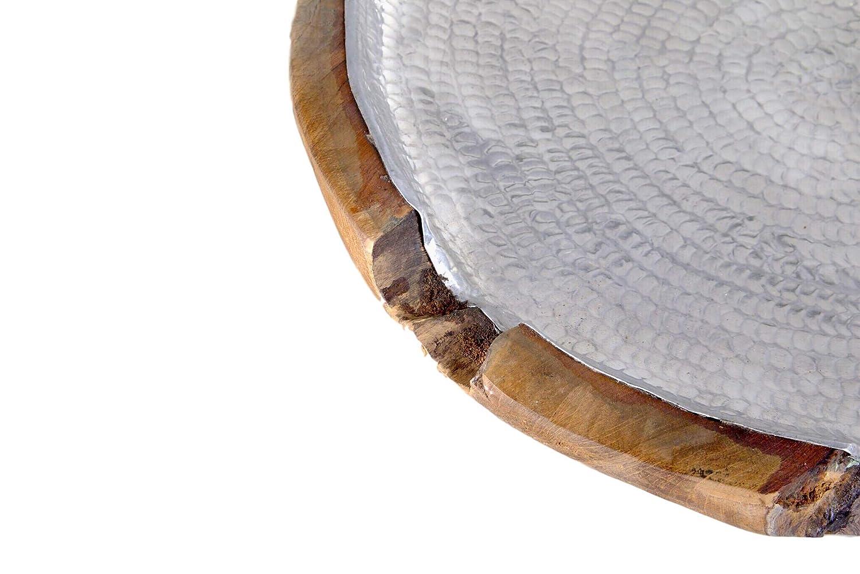 Grafinteriors Dekoschale//Teakschale Cooper und Silver//Schale aus massivem Teakholz in Verschiedenen Gr/ö/ßen und Farbvarianten Kupfer, XL