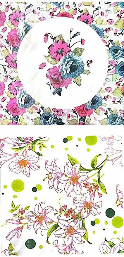 Freshlooms Decorative Printed Decoupage Tissue Paper Napkins Multicolour
