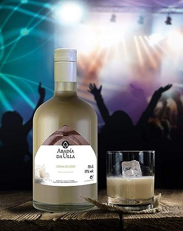 Licor Crema de Orujo Gallego casero. Aguardiente de Galicia ABADIA DA ULLA 70cl