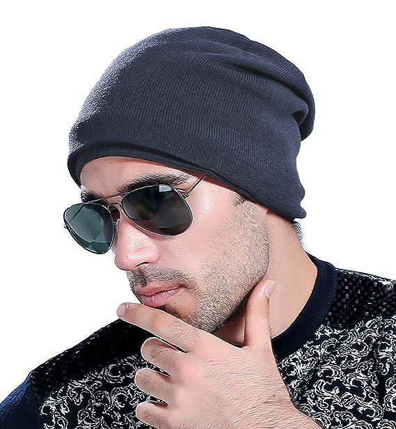 Superora Berretto Uomo Inverno in Maglia Fodera di Felpa Cappello Beanie  Caldo Outdoor da Sci Unisex Blu Scuro  Amazon.it  Abbigliamento 709d6dea5e6a