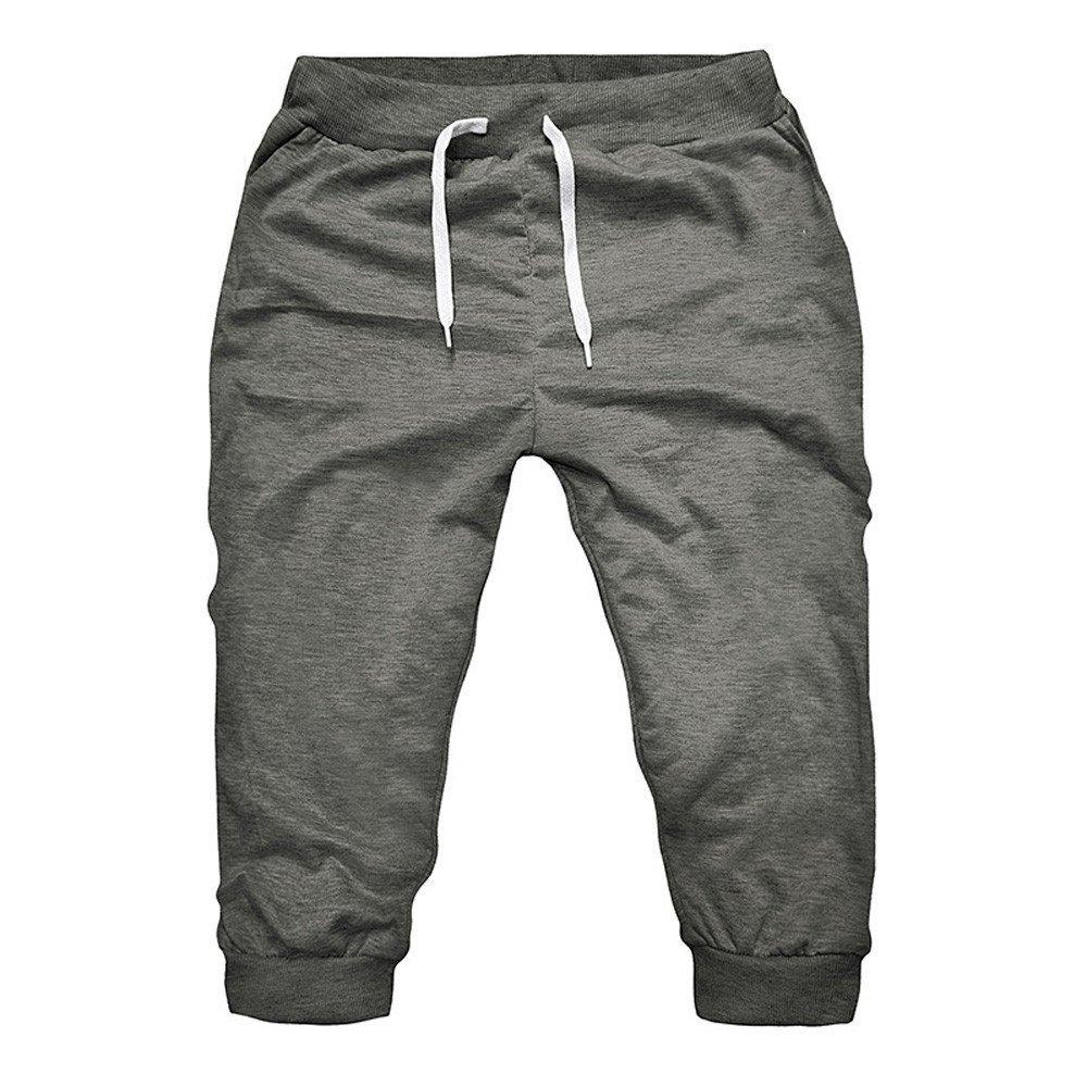 wodceeke Casual Loose Sweatpants, Sport Jogger Pants for Men Fashion Slim Fit Biker Track Pant Running Sweatpants (XL, Deep Gray)