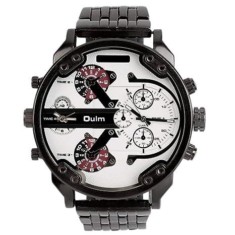 2 Movimiento Gran línea de Correa de Acero Inoxidable Reloj de Pulsera Deportivo de 3548 Forma